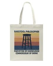 Barstool Philosopher Tote Bag thumbnail