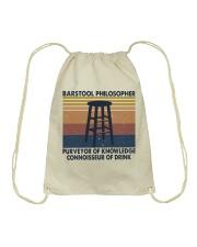 Barstool Philosopher Drawstring Bag thumbnail