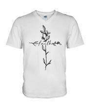 Cross Faith Flower V-Neck T-Shirt thumbnail