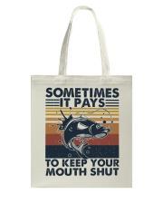 Keep Your Mouth Shut Tote Bag thumbnail