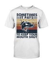 Keep Your Mouth Shut Classic T-Shirt thumbnail