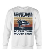 Keep Your Mouth Shut Crewneck Sweatshirt thumbnail