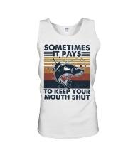 Keep Your Mouth Shut Unisex Tank thumbnail