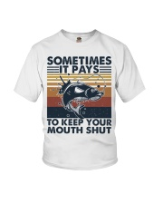 Keep Your Mouth Shut Youth T-Shirt thumbnail