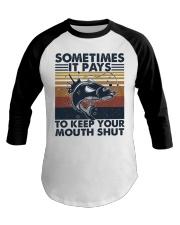 Keep Your Mouth Shut Baseball Tee thumbnail