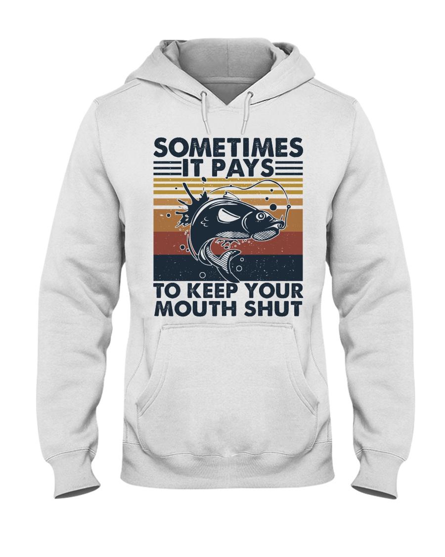 Keep Your Mouth Shut Hooded Sweatshirt