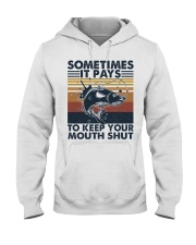 Keep Your Mouth Shut Hooded Sweatshirt front