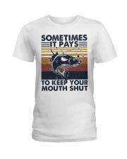 Keep Your Mouth Shut Ladies T-Shirt thumbnail
