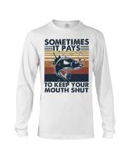 Keep Your Mouth Shut Long Sleeve Tee thumbnail