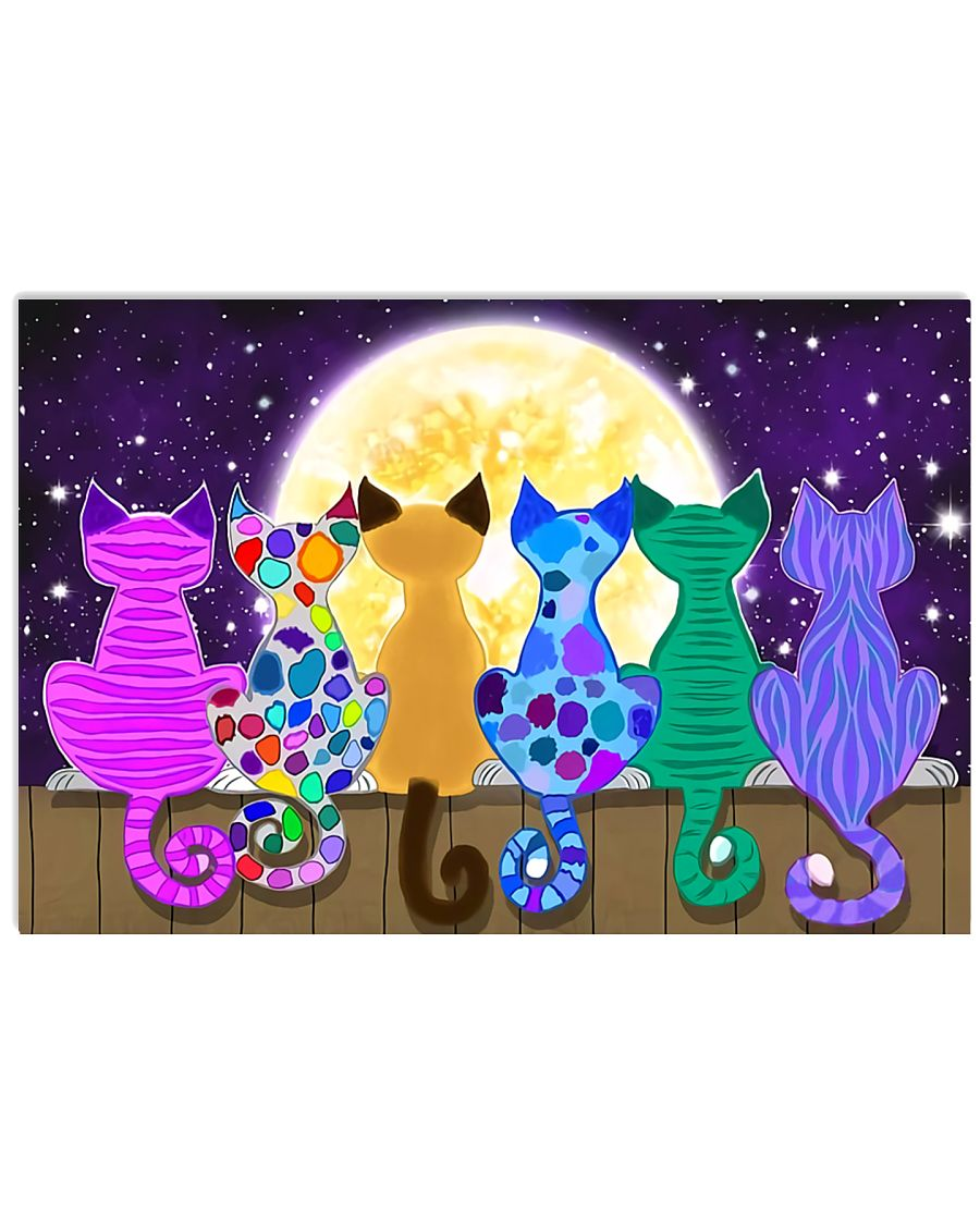 Color Cats Art 17x11 Poster