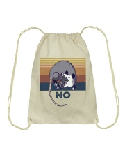 Possum No Funny Shirt Drawstring Bag thumbnail