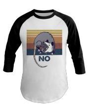 Possum No Funny Shirt Baseball Tee thumbnail