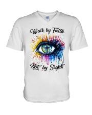 Walk By Faith V-Neck T-Shirt thumbnail
