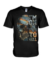 Im On The Highway To Hell V-Neck T-Shirt thumbnail