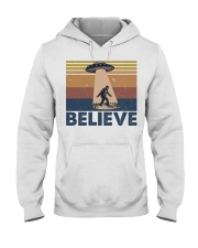 Believe Bigfoot Hooded Sweatshirt front