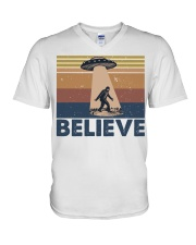 Believe Bigfoot V-Neck T-Shirt thumbnail