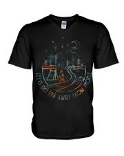 Lets Go Far Away V-Neck T-Shirt thumbnail