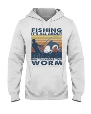 How You Wiggle Your Worm Hooded Sweatshirt front
