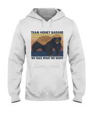 Team Honey Badger Hooded Sweatshirt front