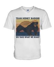 Team Honey Badger V-Neck T-Shirt thumbnail