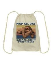Nap All Day Drawstring Bag thumbnail
