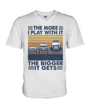 The More I Play Whit It V-Neck T-Shirt thumbnail