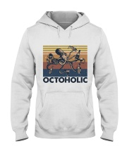 Octoholic Funny Shirt Hooded Sweatshirt front