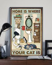 Home Is Where Your Cat Is 11x17 Poster lifestyle-poster-2
