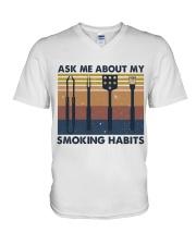 Ask Me About V-Neck T-Shirt thumbnail