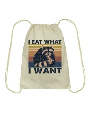 I Eat What I Want Drawstring Bag thumbnail