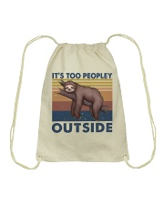 It Is Too Peopley Drawstring Bag thumbnail