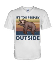 It Is Too Peopley V-Neck T-Shirt thumbnail