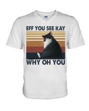 Eff You See Key V-Neck T-Shirt thumbnail
