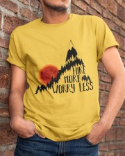 -Hike More Worry Less Classic T-Shirt apparel-classic-tshirt-lifestyle-26