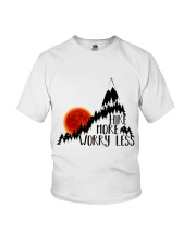 -Hike More Worry Less Youth T-Shirt thumbnail