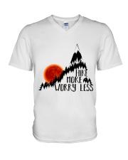 -Hike More Worry Less V-Neck T-Shirt thumbnail