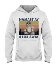 Namastay 6 Feet Away Hooded Sweatshirt front