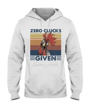 Zero Clucks Given Hooded Sweatshirt front