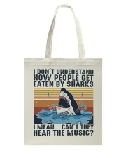 How People Get Eaten By Sharks Tote Bag thumbnail