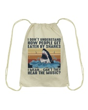 How People Get Eaten By Sharks Drawstring Bag thumbnail