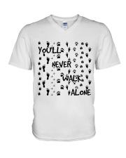 Youll Never Walk Alone V-Neck T-Shirt thumbnail