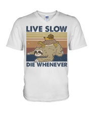 Live Slow Die Whenever V-Neck T-Shirt thumbnail