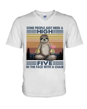 Some People Need A High Five V-Neck T-Shirt thumbnail