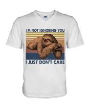 Im Not Ignoring V-Neck T-Shirt thumbnail
