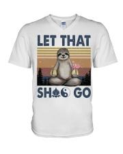 Lat That Shlt Go Funny Yoga V-Neck T-Shirt thumbnail