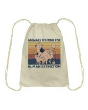 Animals Waiting For Drawstring Bag thumbnail
