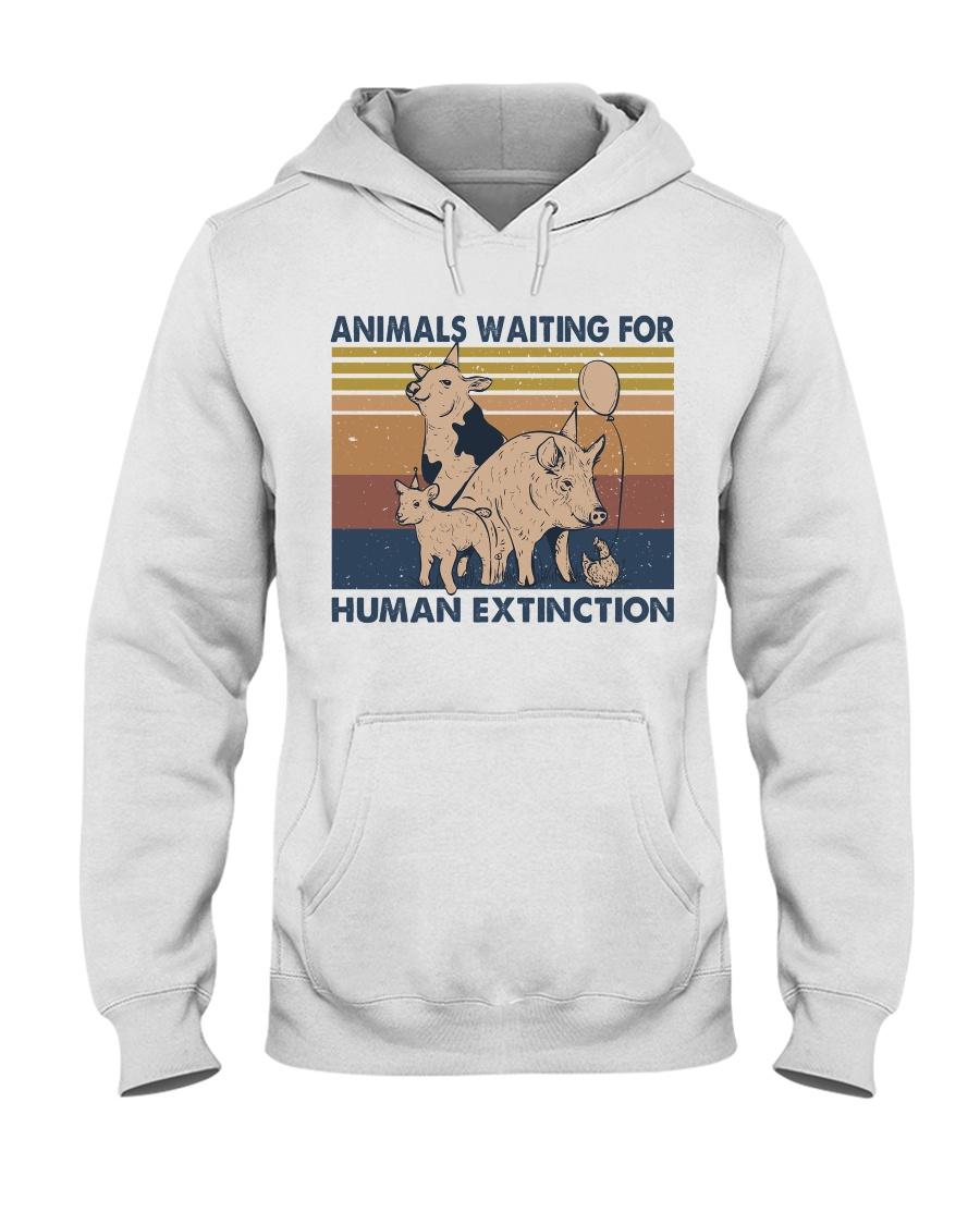 Animals Waiting For Hooded Sweatshirt
