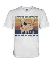 Animals Waiting For V-Neck T-Shirt thumbnail