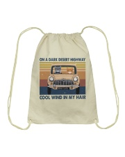 On A Dark Desert Highway Drawstring Bag thumbnail