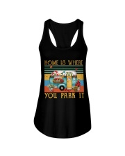 Home Is Where You Park Ladies Flowy Tank thumbnail